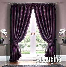 "CLEARANCE ROME DOUBLE LINED THERMAL THICK CURTAINS ~ Aubergine  56"" x 72"" Drop"