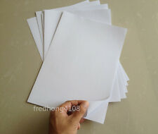 10x A4 White Glossy Self Adhesive Sticker Sheet Photographic Photo Printer Paper