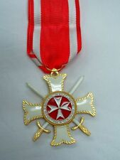 MEDAGLIA CROCE CAVALIERE ORDINE DI MALTA SWORDS CROSSED SPADE INCROCIATE