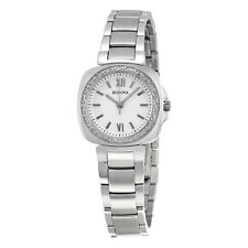 Bulova Diamond Gallery White Dial Stainless Steel Ladies Watch 96R200