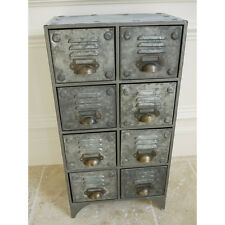 60cm Vintage Retro Industrial Metal Cabinet 8 Drawers Storage Cabinet Cupboards