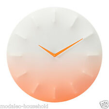 Ikea SPRALLIS Stylish Wall clock, white,orange for home, office, work 39cm -B787