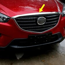 Front Hood Grill Cover Bonnet Trim Chrome 1pcs For Mazda CX-5 CX5 2012-2016