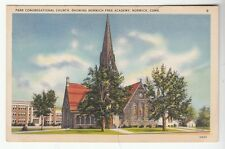 [52376] OLD POSTCARD PARK CONGREGATIONAL CHURCH IN NORWICH, CONNECTICUT