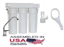 PACIFIC WATER UNDER SINK TRIPLE FILTERS CARBON/KDF GAC SEDIMENT MADE IN USA