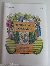 Généalogie Lorraine photo sommaire 109 Famille Hurault / chaulson de Monspoix
