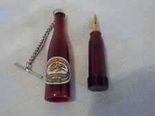 key Chain Mini Fountain Pen Bottle shape clear plastic