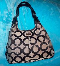 COACH 21125M Madison Pop Art Black Signature Shoulder Bag - MAGGIE-LEATHER STRAP
