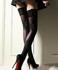 Details about Top Polka Dot Over the Knee Thigh High Stocking With Ankle Satin