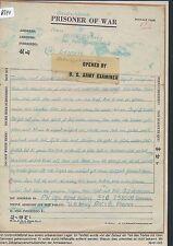 K644) Kriegsgefangenenpost Schwärzung, PWIB France Brief 15.4.45   Leipzig