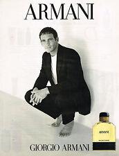PUBLICITE ADVERTISING 025  1998  GIORGIO ARMANI  eau de toilette pour homme