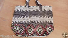 RIVER ISLAND EMBELLISHED AZTEC TOTE SHOP OR BEACH BAG BNWT