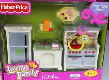 NEW FISHER PRICE LOVING FAMILY KITCHEN FRIDGE GAS STOVE DISHWASHER SINK COOKTOP