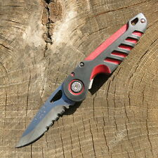 Buck NXT pocket knife rubber Comfort Handle, serrated Blade couteau de poche