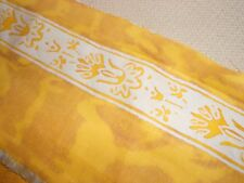 "ORSINI 1957 EXPENSIVE RARE ORIG. FORTUNY 5"" BORDER 15 YDS GOLD WHITE WATER PRINT"
