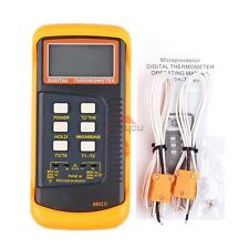 From USA Digital Thermometer 2 K-Type Temperature Thermocouple Sensor Probe TOOL