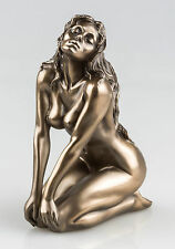 BRONZE FINISH NUDE WOMAN SCULPTURE NAKED FEMALE EROTIC ART STATUE NEW IN (75078)