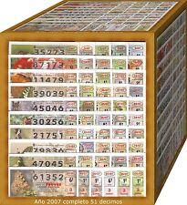 AÑO 2007 COMPLETO LOTERIA NACIONAL DEL JUEVES,