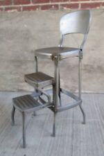 Vintage COSCO Step Stool - Metal - Industrial - Kitchen (#11)