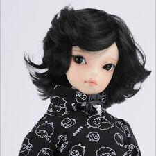 """Dollmore 1/4 BJD OOAK MSD Wig (7-8)"""" Zephyr Wig (Black)"""