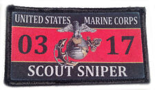 usmc marine corps scout sniper 0317 hook and loop embroidered patch pack of 4