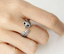 Fox Animal Ring Adjustable Silver Finger Wrap Free Shiping AR-27