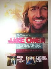 Jake Owen RARE Florida Georgia Line Poster Promo NEW + FREE POSTER! CMT Tour