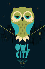 Owl City * Original Concert Poster 11x17 rare 2010 tour * Ocean Eyes All Things