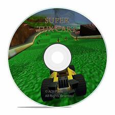 PC SUPER TUX CART RACING GAME, JUMP AND DO TRICKS, race your friends game