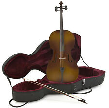 New 1/4 Size Cello with Case and Bow, Antique Fade by Gear4music