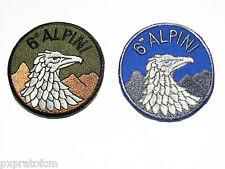 Patch Toppa Esercito Italiano 6 Rgt. Alpini Azzurra o Verde per Mimetica Vegetat