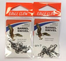 Eagle Claw Barrel Swivel 2 Pack Size 7 QTY 7 #01012-007 64E