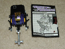 Vintage G1 Transformer Insecticon Bombshell Beetle  with Instructions