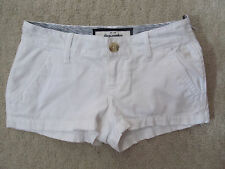 NEW * ABERCROMBIE girls WHITE COTTON SHORTS sz 8 CUTE STRETCH