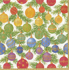 Ombre Christmas Baubles Decorations Caspari paper table lunch napkins 20 in pack