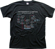 Friendship Algorithm | Sheldon | Big | Bang | Theory white cotton t-shirt 9963