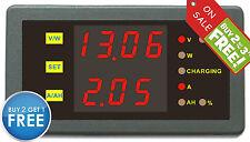 Digital Voltmeter Ammeter Dual Voltage Current Gauge 0-90V 0-25A LED Indicator