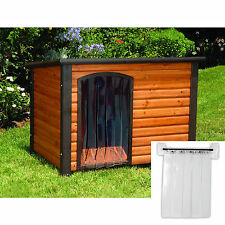 Precision Pet 25 by 14.5-Inch Outback Dog House Door Cabin Log Fits Small