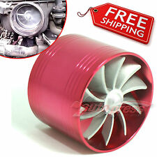 TURBO Supercharger AIR INTAKE TURBONATOR Red Gas Fuel Saver Fan for SUZUKI