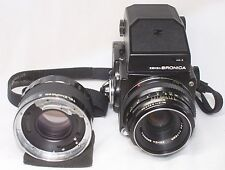 Excellent Zenza Bronica ETRS w/ AE-II Prism Finder & Zenzanon MC 75mm F2.8 Lens