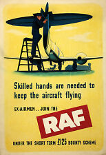 RAF World War 2 Recruiting Poster  9x6 inches Reprint