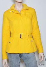 Nwt Lauren by Ralph Lauren Quilted Jacket Parka Belted Coat Top ~Mango Yellow *M