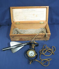 Vtg Antique Walker's Excelsior Yacht Log Mark III Marine Ship Taffrail Orig. Box
