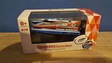Rc mini bateau de course Chow incl. Batterie et télécommande Bleu