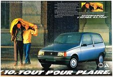 Publicité Advertising 1987 (2 pages) Lancia Y10 Fire Autobianchi