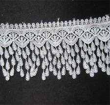 2yd Vintage White Lace Edge Trim Wedding Bridal Dress Ribbon Applique Sewing DIY