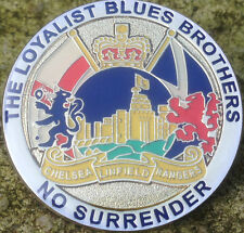 LOYALIST BLUES BROTHERS PIN BADGE ULSTER RANGERS CHELSEA LINFIELD CD POPPY UVF