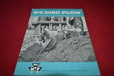 Massey Ferguson 64 Disc Plow Dealer's Brochure YABE8