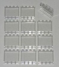LEGO LOT OF 12 NEW TRANSPARENT CLEAR 1 X 4 X 3 WINDOWS PANELS PARTS