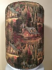 THOMAS KINKADE CABIN WOODS 5 GALLON WATER COOLER BOTTLE COVER KITCHEN DECORATION